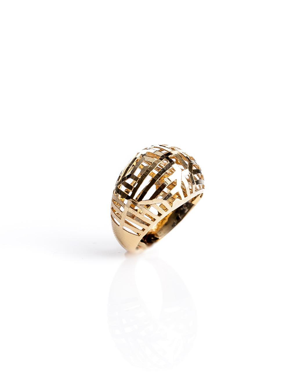 Anel abaolado, confeccionado em ouro 18k