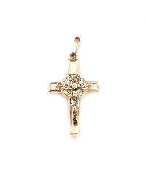 Crucifixo em ouro amarelo 18k