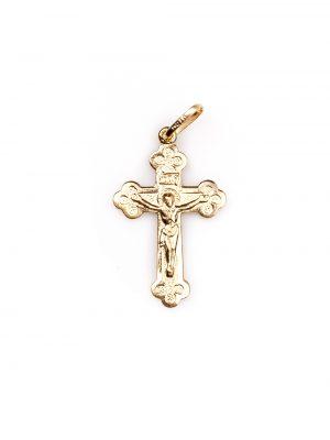 Crucifixo em ouro amarelo ou ouro branco 18k com ródio negro