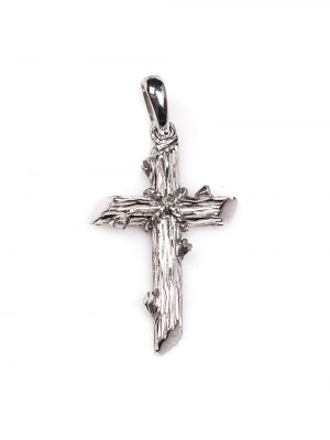 Crucifixo em ouro branco 18k
