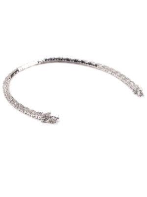 Pulseira em prata rodinada com pave de zircônias